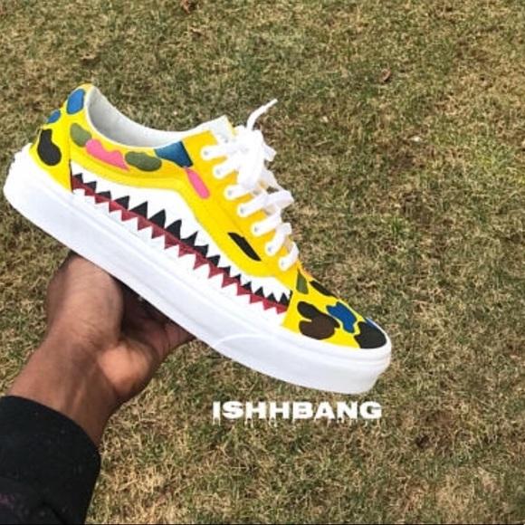 e494a5fc6c89 Bape Vans Size 10 Yellow